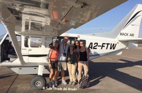 in volo sul delta dell'okawango