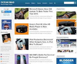 Ocean Mag Blogger Template