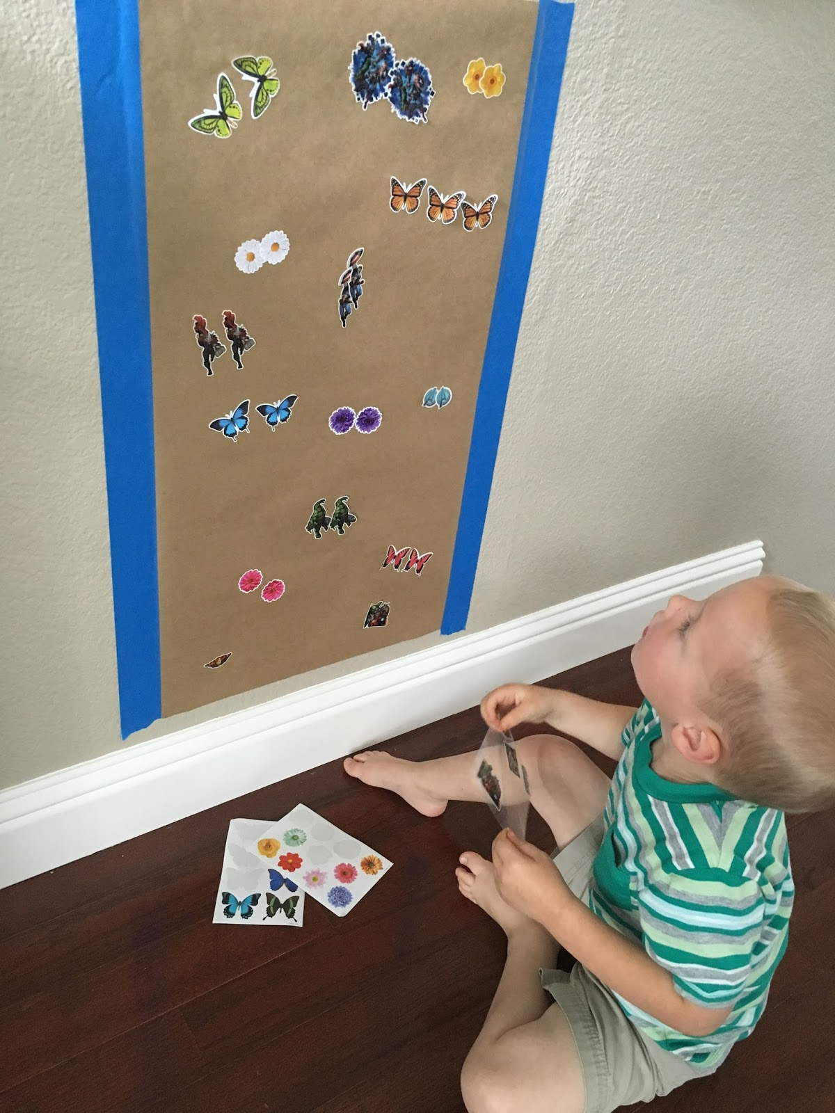 Beautiful This activity is really simple and can be super fun if you use stickers that your child loves My son likes all super heroes so he was excited that I had