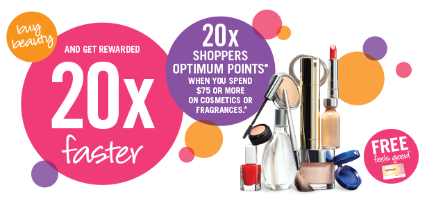 1a74ea5e81f x20 points when you spend  75 or more on cosmetics