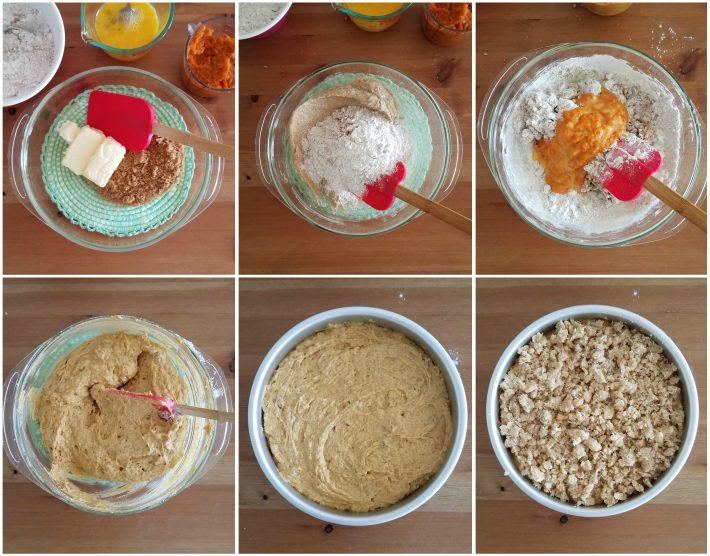 Paso a paso elaboración de la torta de auyama y copos de coco