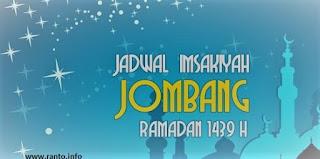 Jadwal imsakiyah Jombang, Jawa Timur Puasa Ramadhan 1439