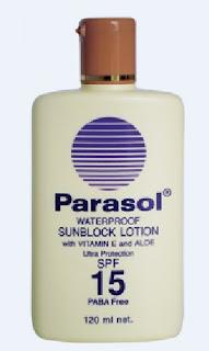 Parasol sunblock SPF 15 lotion kulit
