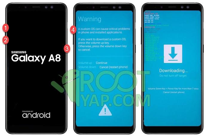 Samsung Galaxy A8 2018 Root Yapma, TWRP Yükleme