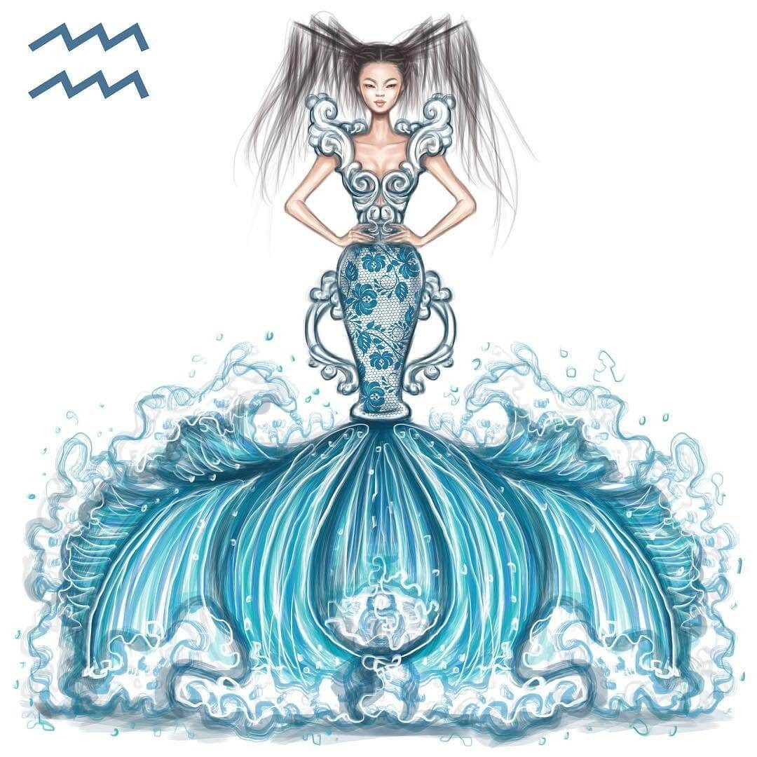 11-Aquarius-Shamekh-Bluwi-Zodiac-Haute-Couture-Exquisite-Fashion-Drawings-www-designstack-co