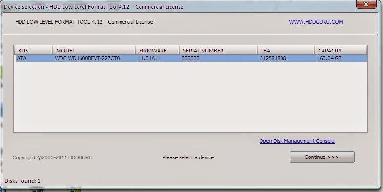 SCARICARE HDD LLF LOW LEVEL FORMAT TOOL