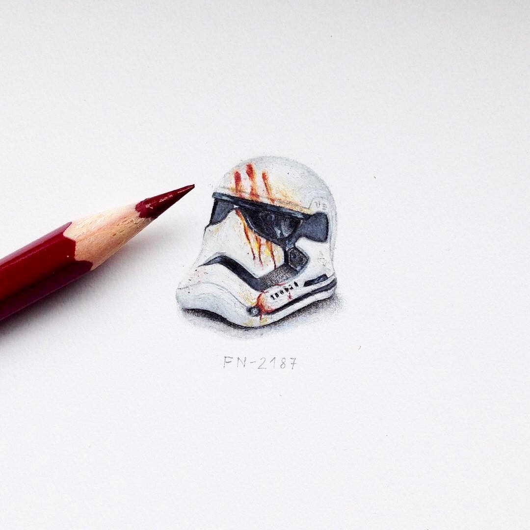 07-Finn-S-Helmet-Fn-2187-Star-Wars-The-Force-Awakens-Claudia-Maccechini-Miniature-Tiny-Drawings-www-designstack-co