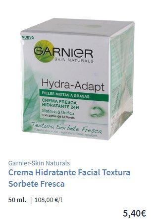 Crema Hydra adapt Garnier Carrefour
