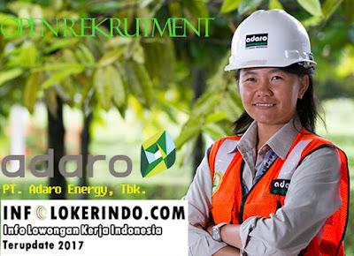 Lowongan Kerja PT. Adaro Energy, Tbk 2017