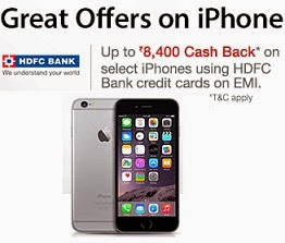 Great Offers on iPhones: Up to Rs.8,400 Cashback on HDFC Bank Credit Cards for EMI Transaction