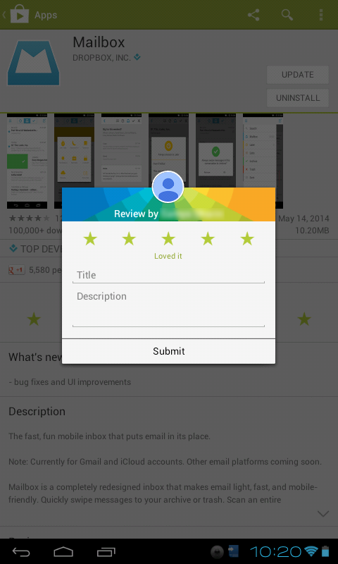 Jendela review play store baru