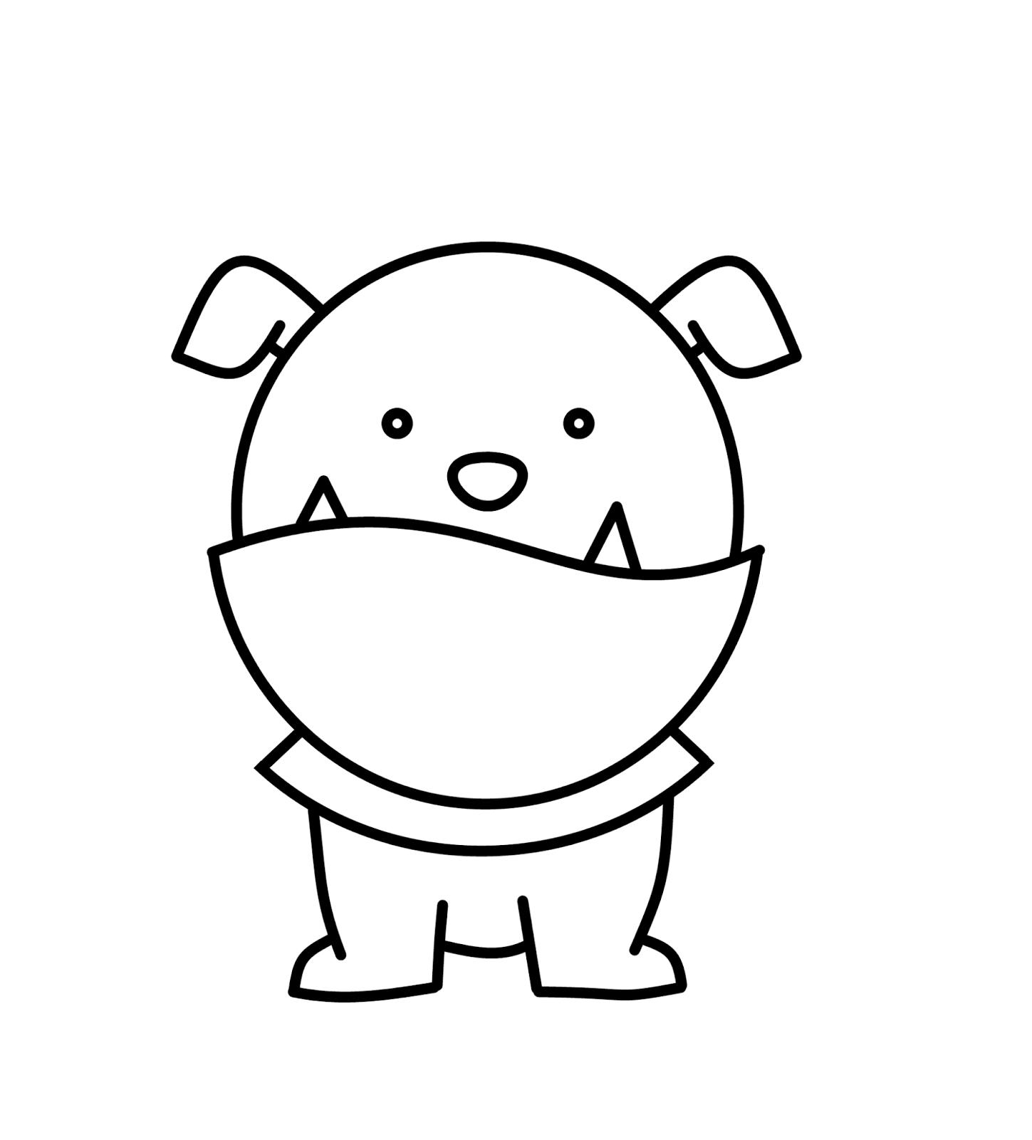 Easy Drawings Of Bulldogs