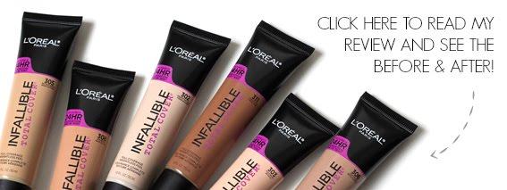 L'Oréal Paris Infallible Total Cover Foundation Review