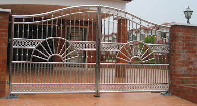 gambar model pagar stainless minimalis terbaru