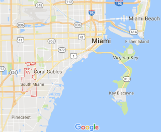 Google Maps screengrab showing borders of city of South Miami