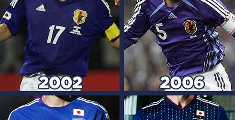 b23cd68fd3c Here Are All Japan World Cup Home Kits in History