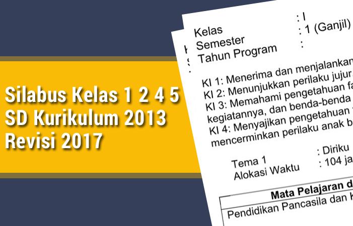 Silabus Kelas 1 2 4 5 Sd Kurikulum 2013 Revisi 2017 Rpp K13