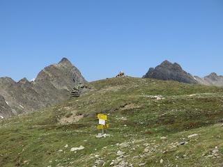 Am Gipfel des Schafhimmel; links Riegespitze, rechts Wildgrat