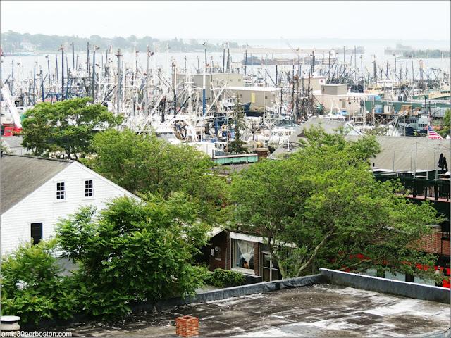 Vistas del Puerto desde la Terraza del Museo de las Ballenas de New Bedford