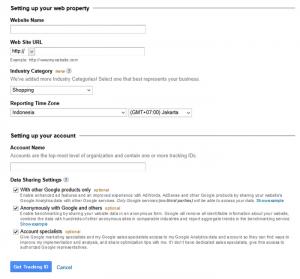 Cara Daftar Kode Pelacakan Google Analytics pada Blog