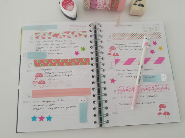 ideas bonitas para decorar la agenda