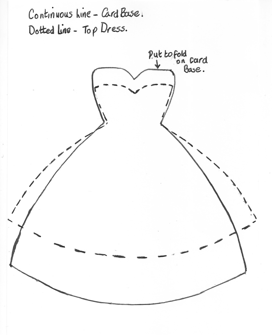 Макет открытки платье, анимация добро пожаловать