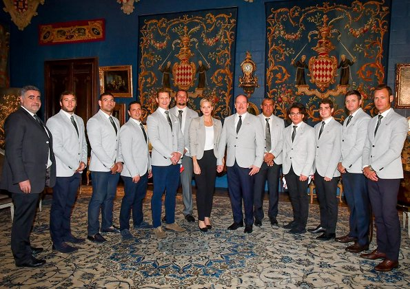 Prince Albert of Monaco and Princess Charlene at 7th Rugby Tournament to be held in Dubai