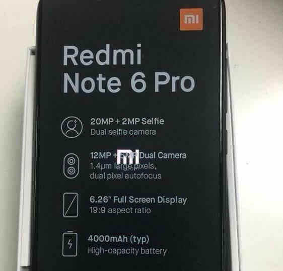 Xiaomi Redmi Note 6 Pro Leaked!