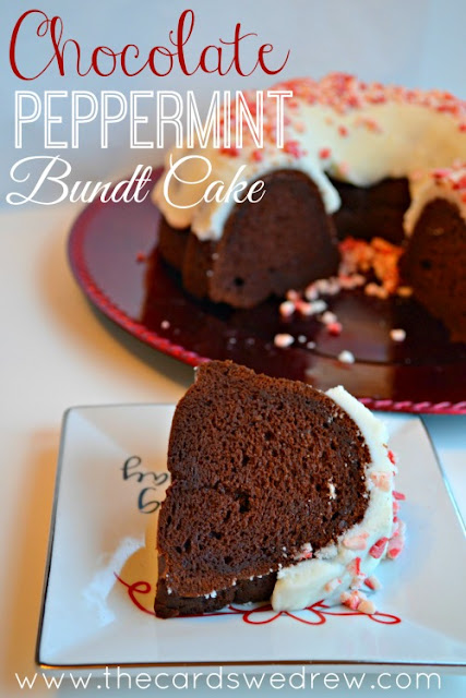 Chocolate Peppermint Bundt Cake from The Cards We Drew Blog loveyourcup cbias shop 20 Festive Holiday Treats 46