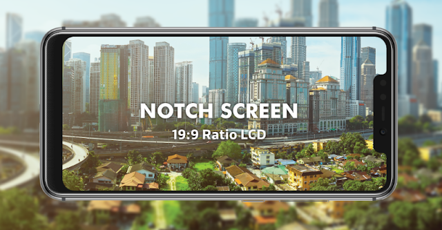 Spesifikasi Luna G60X Notch Screen 19:9 LCD FHD+