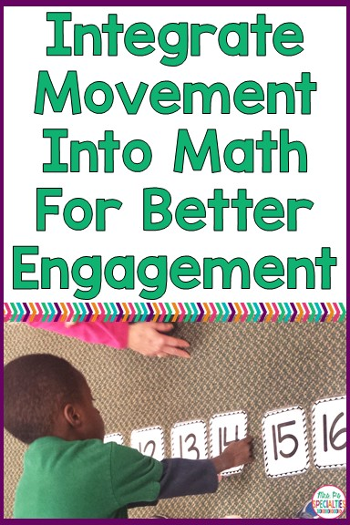 Research is clear...learning through movement is an effective way to get students to attend, engage and learn. Movement can be added to most any lesson. In my class math is the subject dreaded the most, so I try to add movement to most of our math lessons. Here is a SIMPLE way to add movement that doesn't require extra materials or prep.
