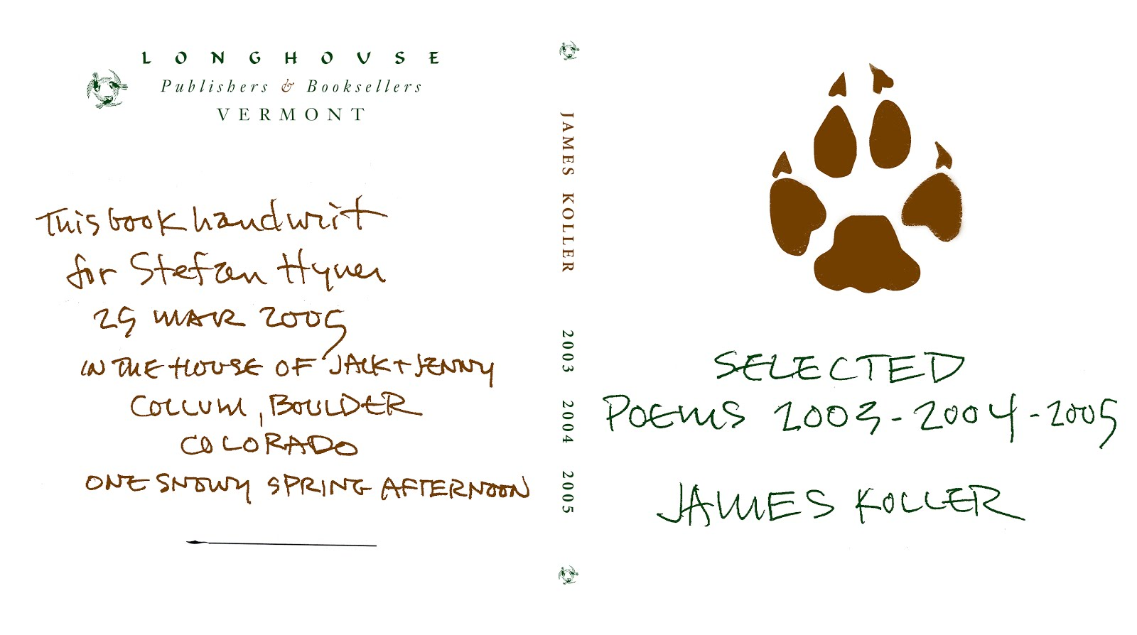 New! James Koller : Selected Poems  2003-2004-2005