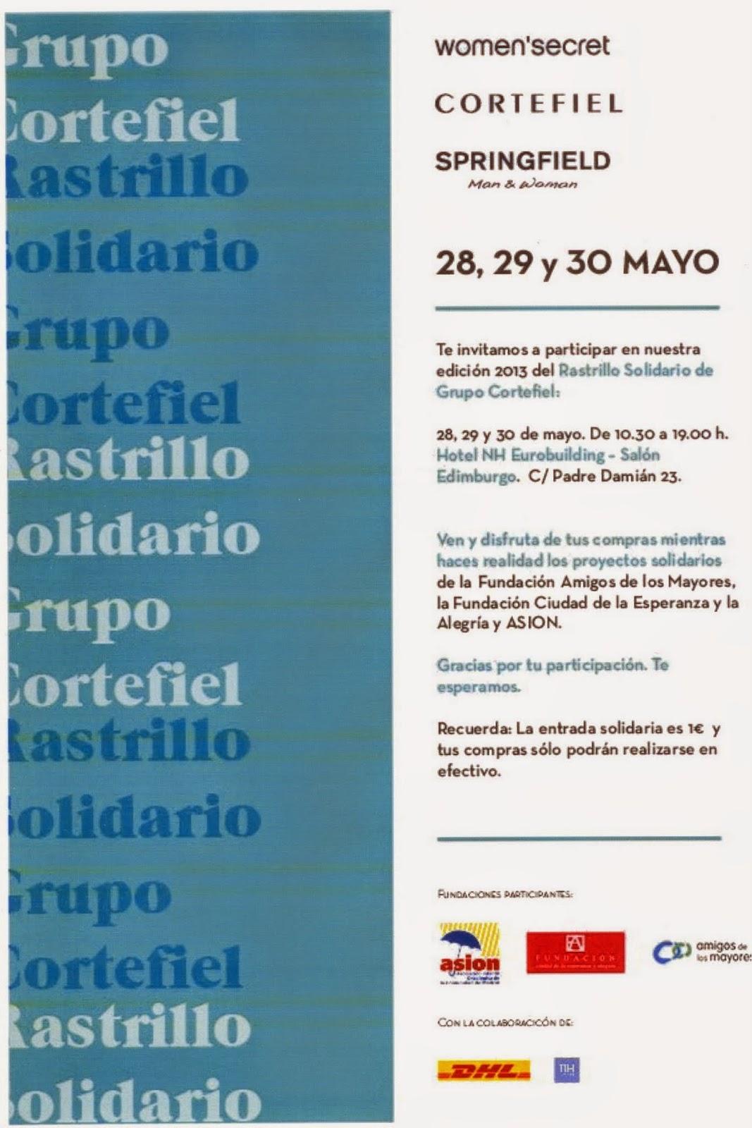Cartel Rastrillo Solidario Grupo Cortefiel