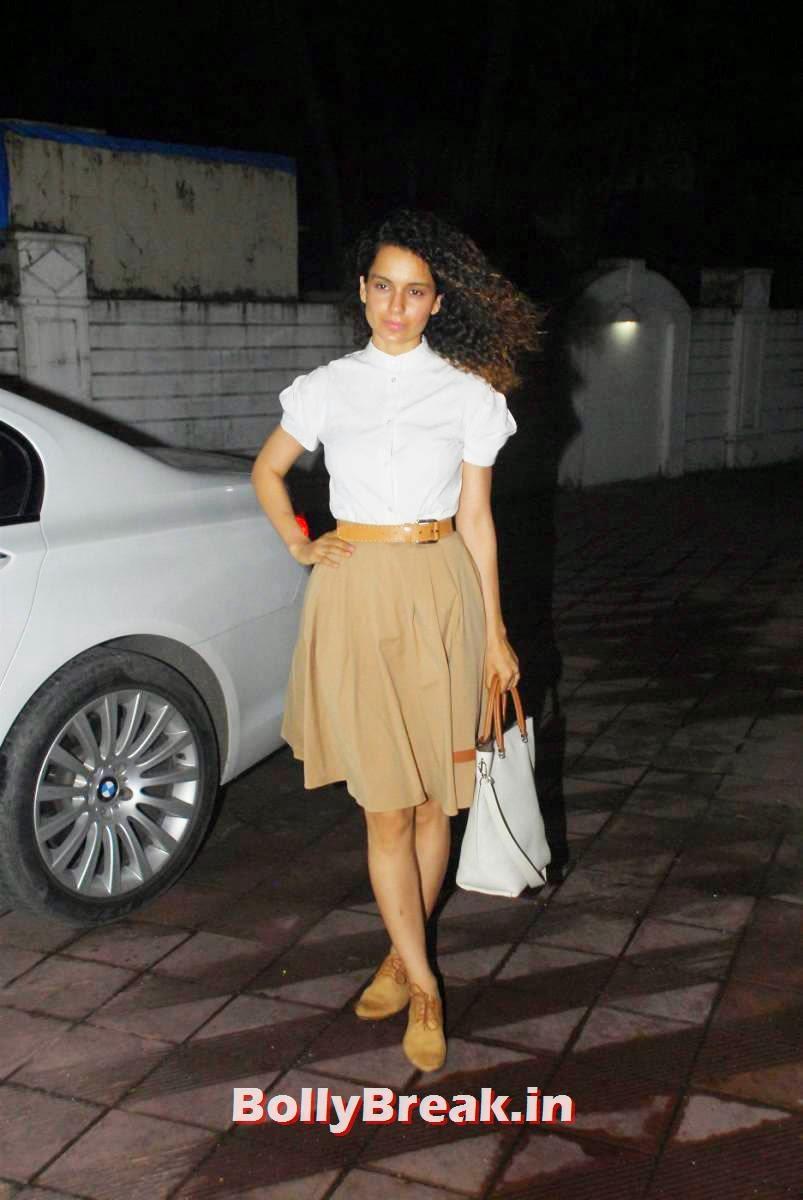 , Kangana Ranaut in Skirt & Top at Priyanka Chopra's Birthday bash