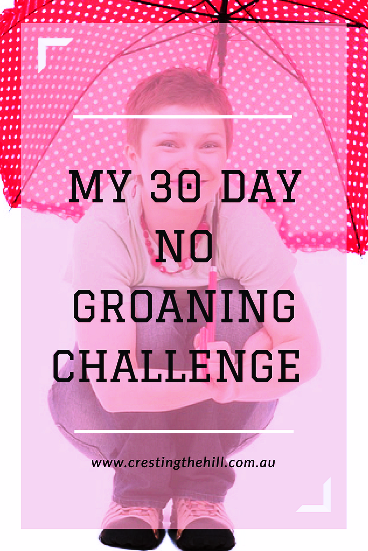 I'm taking up a new smaller 30 day challenge for November