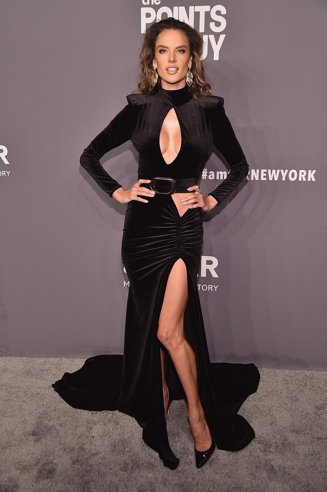 Alessandra Ambrosio - amfAR New York Gala 2019 at Cipriani Wall Street in New York City - February 6, 2019