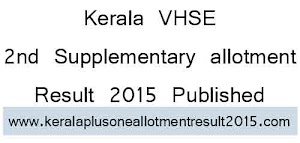Kerala VHSE Second Supplementary allotment results published