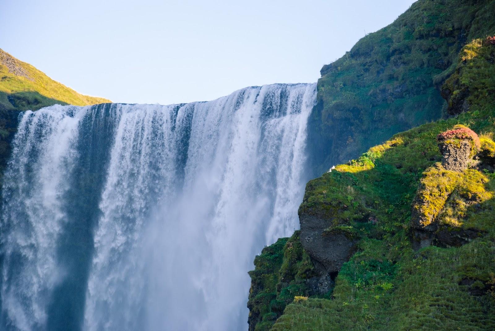 Islandia, wodospad, Skógafoss