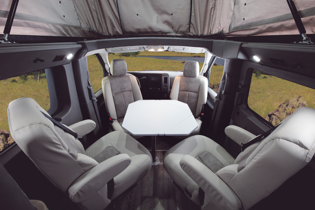 gmc acadia with captains chairs best baby height roadtrek motorhomes