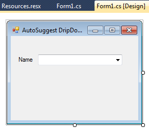AutoSuggest DropDownList In Windows Application Using C# Net « Asp