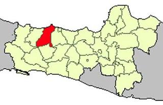 Gambar Peta Lokasi Kabupaten Pemalang