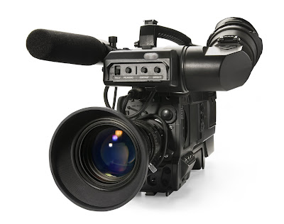 Pic of handheld video digital camera complete with microphone