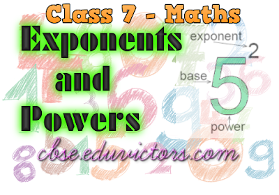 CBSE Class 7 - Maths - Exponents and Powers (MCQs) (#cbsenotes)(#eduvictors)