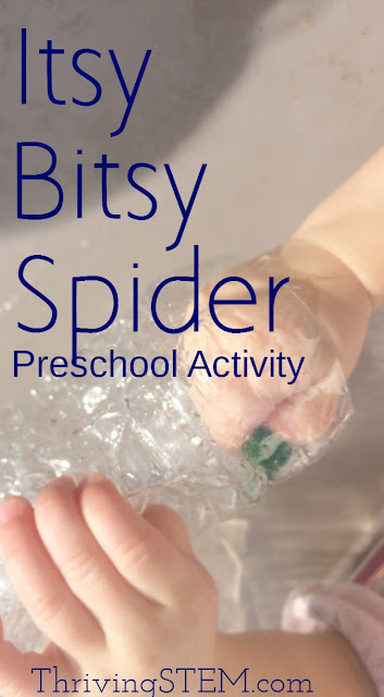 My daughter loves the Itsy Bitsy spider book, and both my girls were really excited to do this activity repeatedly.