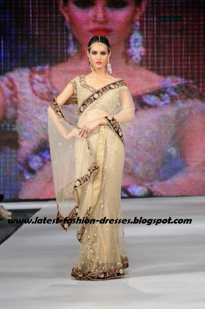 off white fashion designer saree