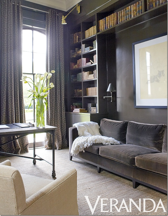 Grey Parsons Chair Material To Cover Dining Chairs Prairie Perch: Den + Library = Denbrary (a Dark & Moody Design Board)