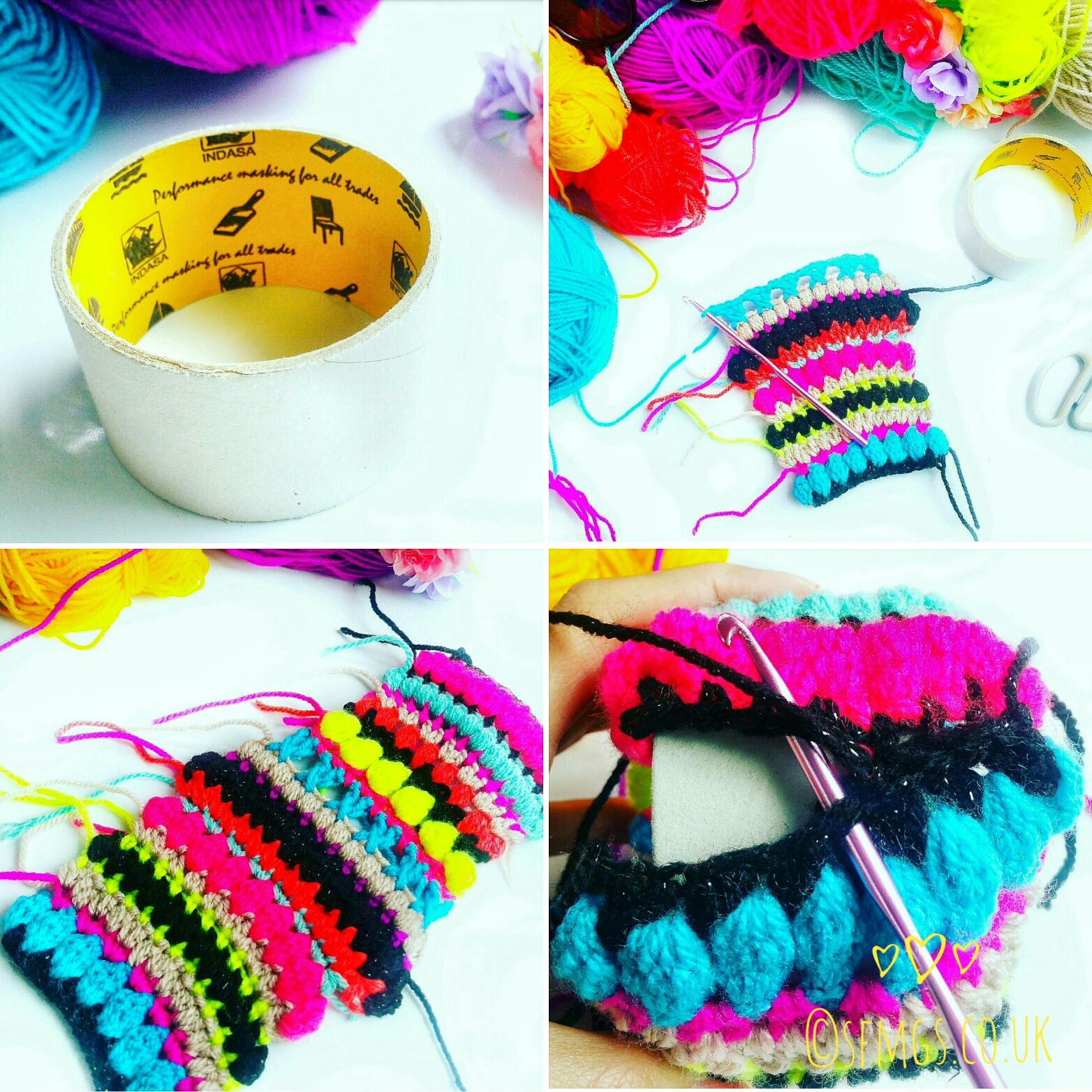 crochet bangle tutorial pattern boho hippie