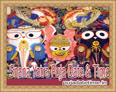 2020 Snana Yatra Date & Time in India