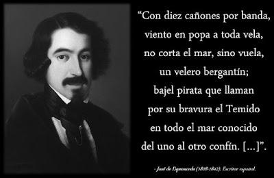 """""""Canción del pirata"""", Espronceda"""
