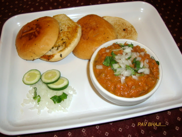 Pav Bhaji Recipe / Mumbai Juhu Beach Pav Bhaji Recipe / Pav Bhajji Chaat Recipe